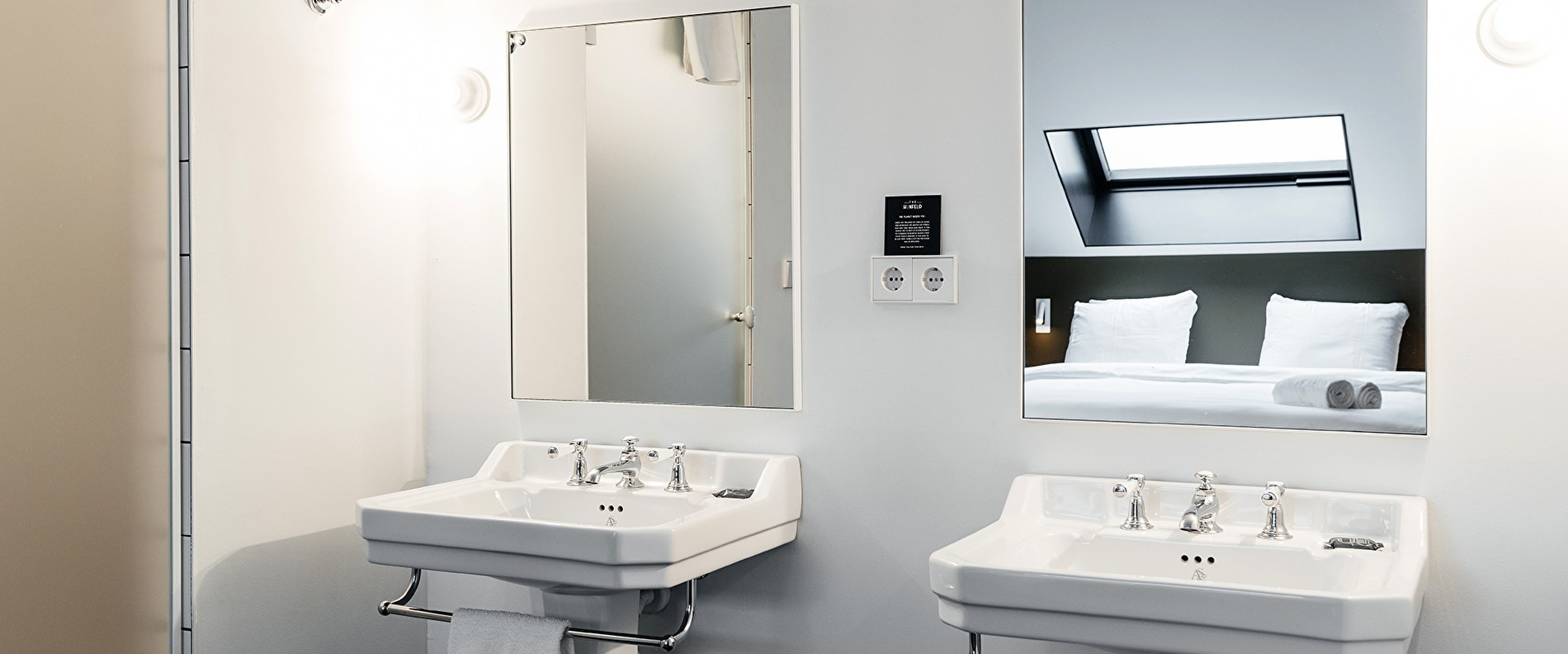 LARGE ROOM - THE HUNFELD (only one of our large rooms has these great double sinks)